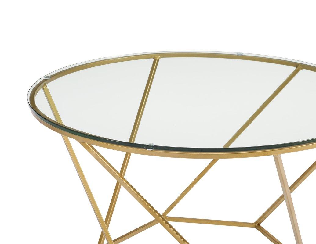 Aman Geometric Glass 2 Piece Coffee Table Set View